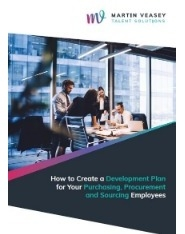 How to Create a Development Plan for your Purchasing, Procurement and Sourcing Employees